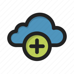 add, cloud, create, new, plus, storage icon