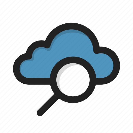 cloud, find, search, storage icon