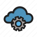 cloud, setting, settings, storage, tools