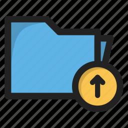 arrow, folder, package, up, upload icon