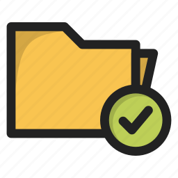 accept, create, folder, package, tick, yes icon