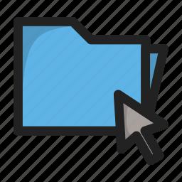 click, curos, folder, hover icon