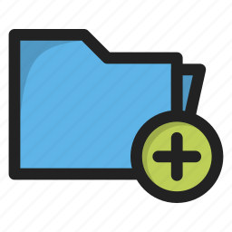 add, folder, new, package, plus icon