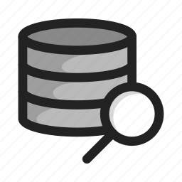 database, fild, hd, search, server, storage icon