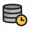 clock, database, server, storage, time, wait icon