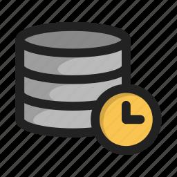 clock, database, server, storage, time, wait icon