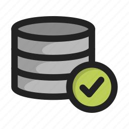 accept, database, hd, server, storage, tick, yes icon