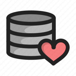 database, favotire, hd, heart, like, server, storage icon