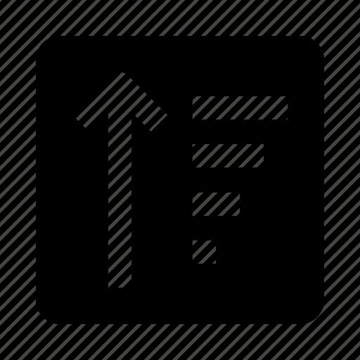 arrow, down, list, sort, up icon