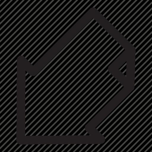 arrow, bottom, corner, direction, interface, left, move icon