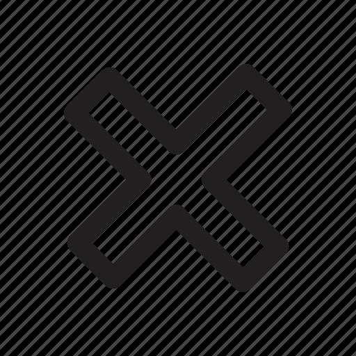 calculate, cancel, checkmark, delete, multiply, no, x icon