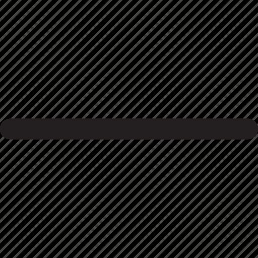 calculate, delete, interface, line, minus, remove, subtract icon