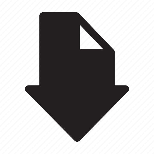 arrow, direction, down, interface, move icon