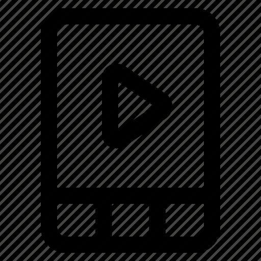 cinema, film, interface, movie, video icon