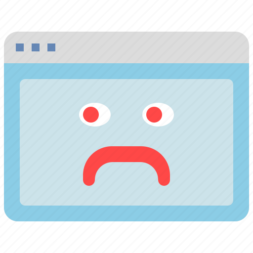 bad, browser, emoji, error, folder, window icon