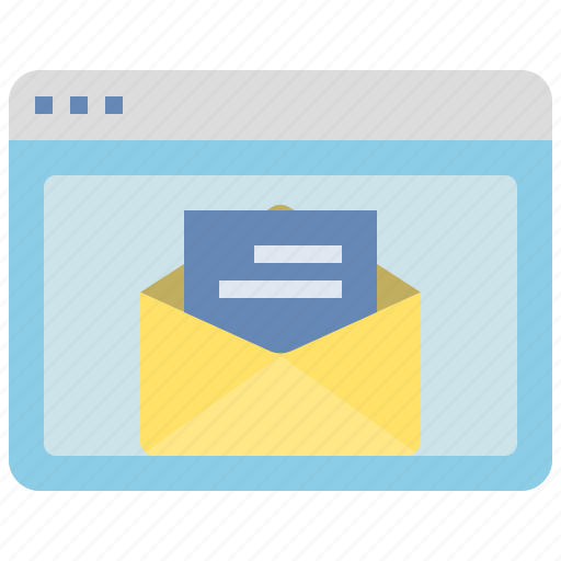 browser, email, envelope, interface, message, website, window icon
