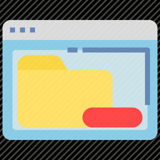 Browser, delete, folder, remove, window icon - Download on Iconfinder