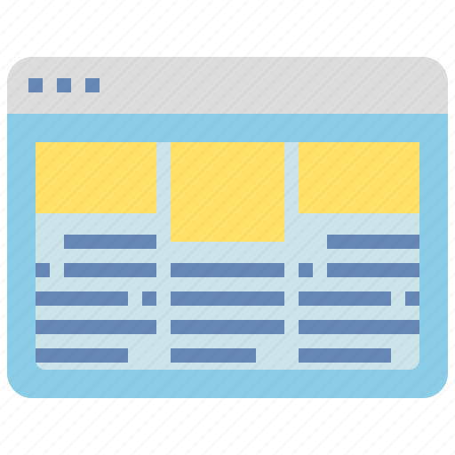 browser, document, information, interface, layout, website icon