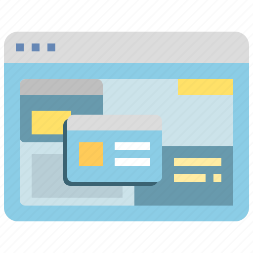 browser, computer, interface, website, window icon