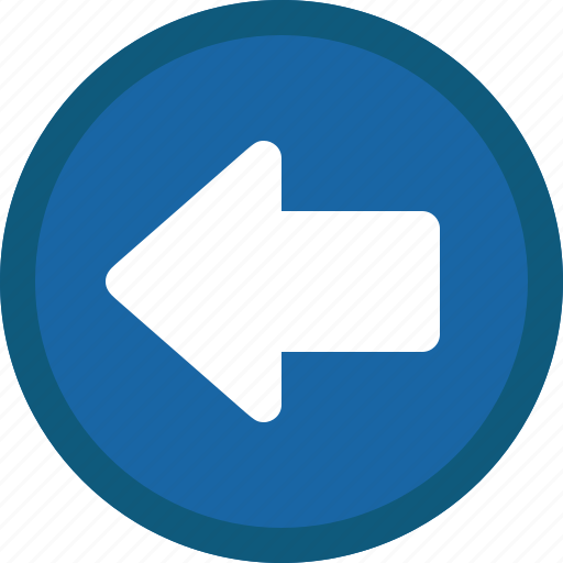 Arrow, back, blue, circle, left, previous icon - Download on Iconfinder