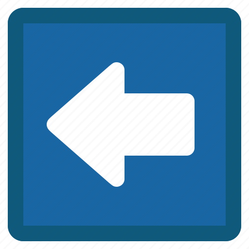 arrow, back, blue, left, previous, square icon
