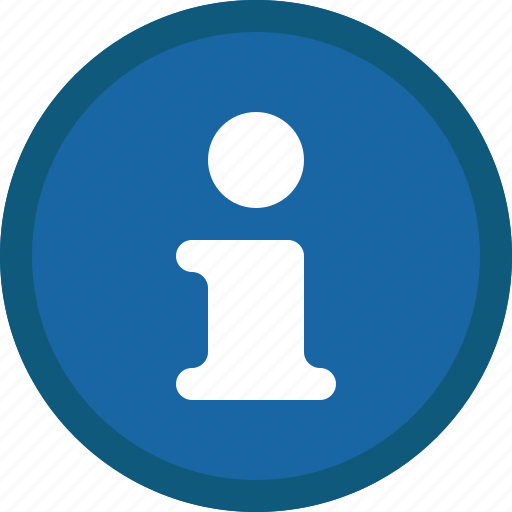 About, blue, circle, info, information, help, support icon - Download on Iconfinder