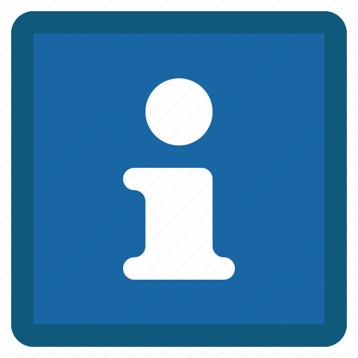 about, blue, help, info, information, square, support icon