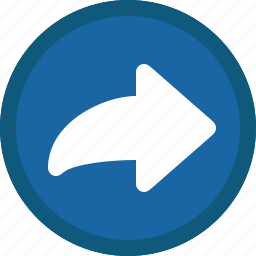 arrow, blue, circle, forward, mail, next, right icon
