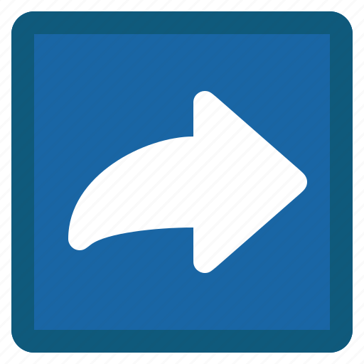 arrow, blue, forward, mail, next, right, square icon