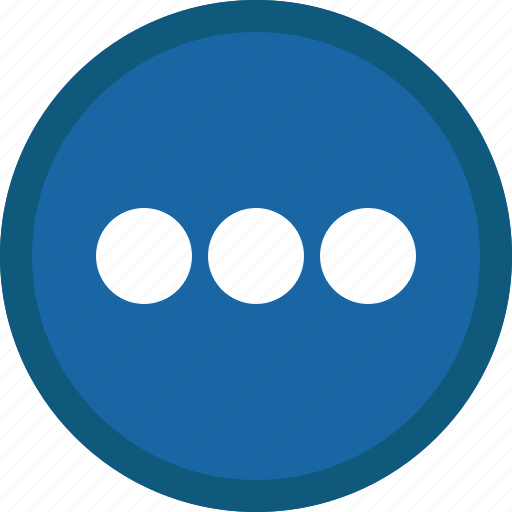 Blue, circle, more, details, menu, options icon - Download on Iconfinder