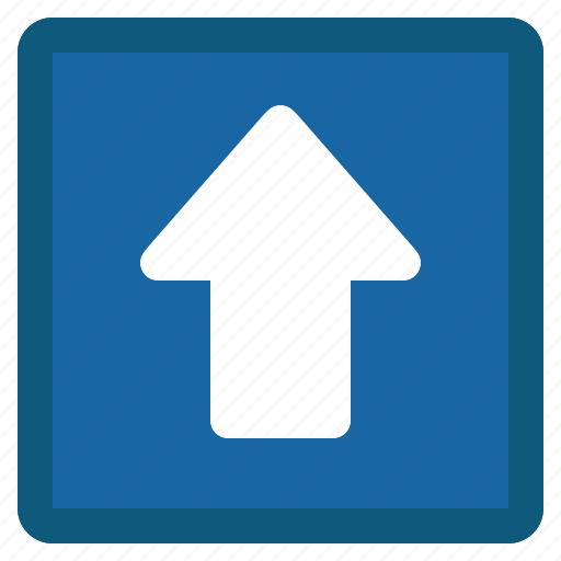 arrow, blue, previous, square, up icon
