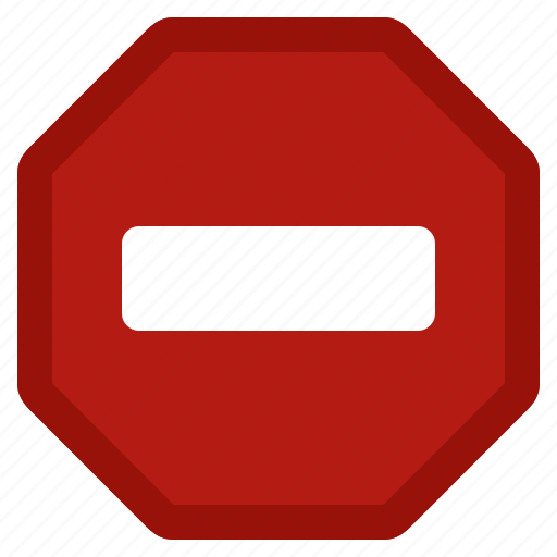 cancel, close, error, private, red, remove, stop icon