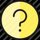 question, help, circle