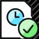 time, clock, file, check