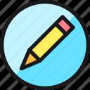 pencil, circle