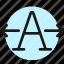 font, expand, horizontal