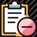 task, checklist, remove