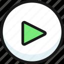 button, play