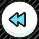 rewind, button