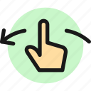 swipe, left, gesture, horizontal