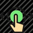 gesture, tap, horizontal, expand