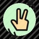 gesture, two, finger, flip, left
