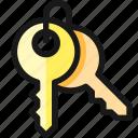 login, keys