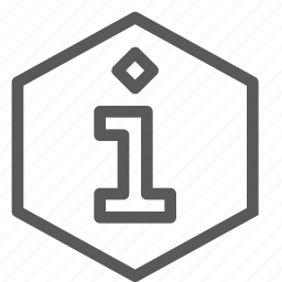 feedback, hexagon, info, information, interface, sign, stop icon