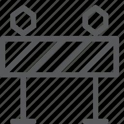 barricade, feedback, fence, interface, maintenance, sign, warning icon