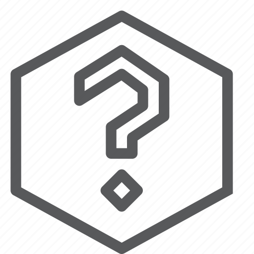 faq, feedback, help, hexagon, interface, mark, question, support icon