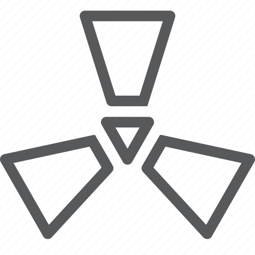 alert, danger, feedback, interface, nuclear, radiation, radioactive, warning icon