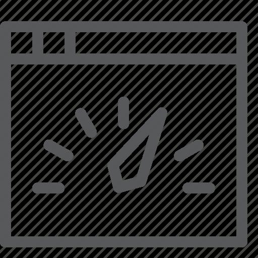 arrow, feedback, gauge, interface, speedtest, tab, window icon