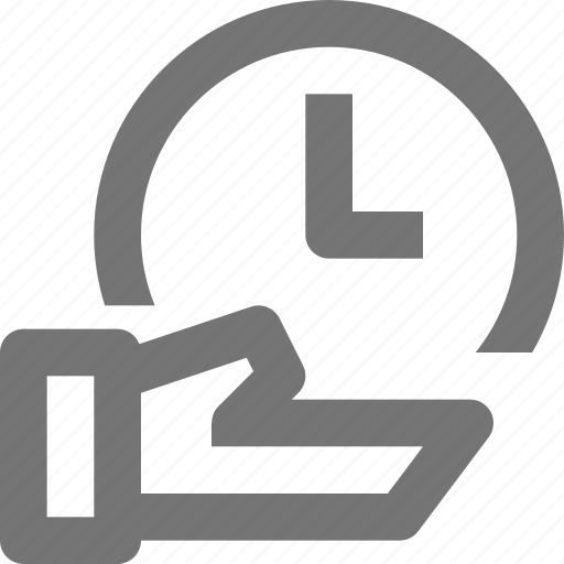clock, hand, share, time icon
