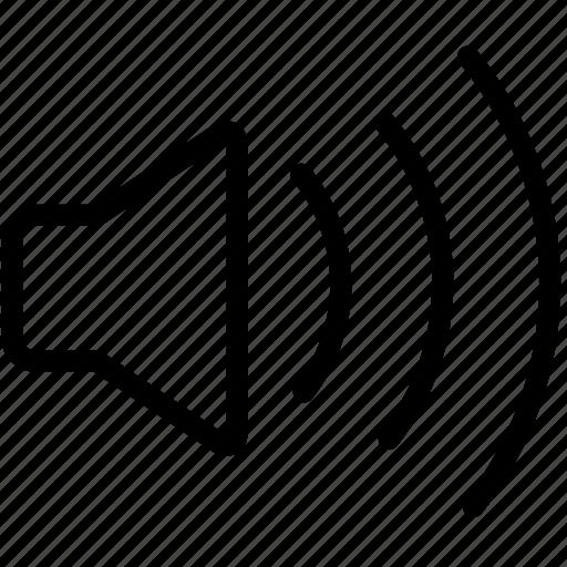 audio, audio lines, noise, sound, speaker, speakers, volume icon